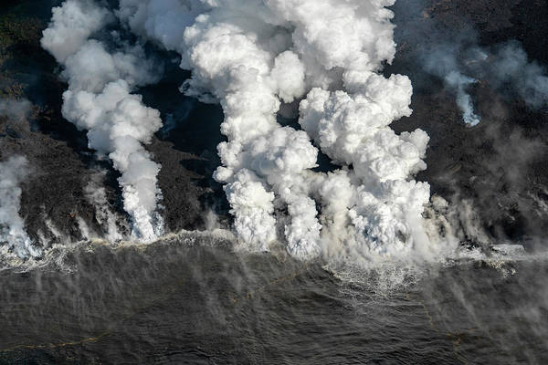 Fissure Photograph - Kapoho Plumes by Christopher Johnson