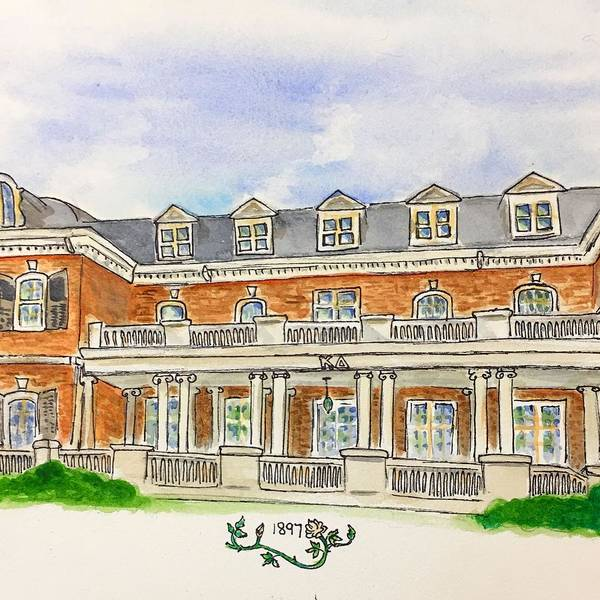 Wall Art - Painting - Kappa Delta by Starr Weems