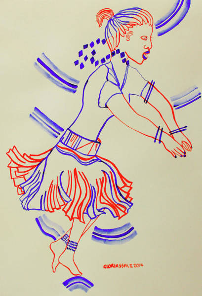 Painting - Karamojong Dance Uganda by Gloria Ssali