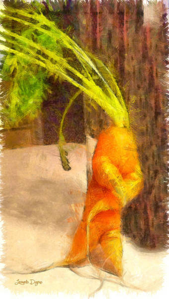 Winter Squash Painting - Karate Carot - Pa by Leonardo Digenio