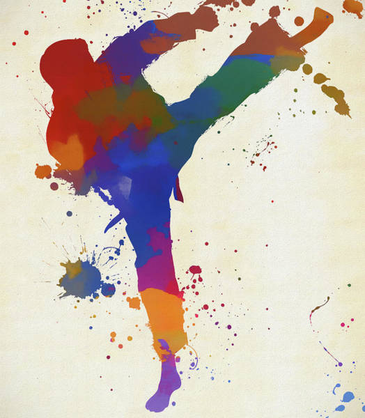 Painting - Karate Fighter by Dan Sproul