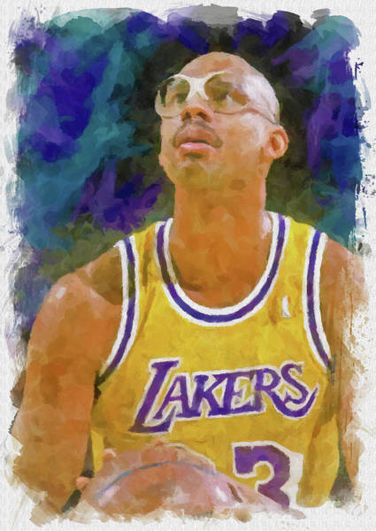 Wall Art - Digital Art - Kareem Abdul Jabbar by Ricky Barnard