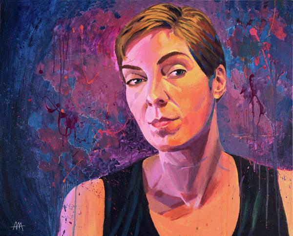 Suicide Painting - Karen by Aaron Moore
