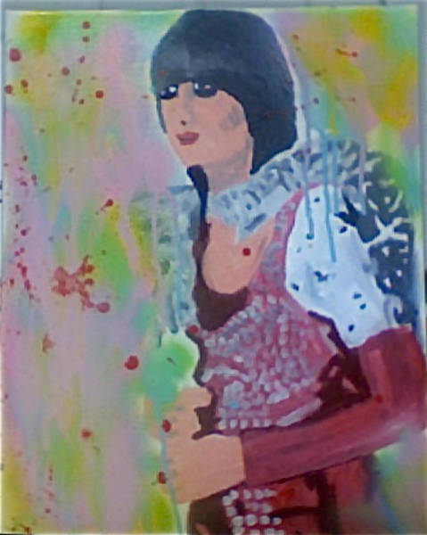 Rockstar Painting - Karen O by Thomas Bonnette
