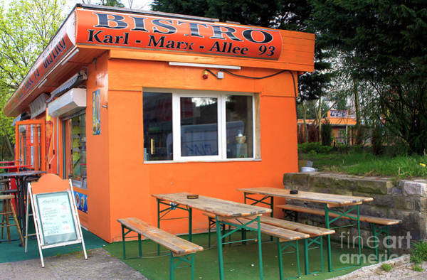 Photograph - Karl-marx-allee Bistro by John Rizzuto