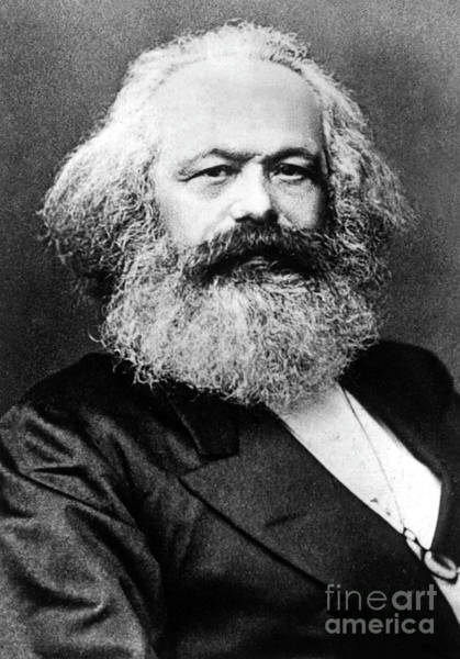 Theorist Wall Art - Photograph - Karl Marx  German Politician Economist And Philosopher One Of The Authors Of Communist Pa by English School