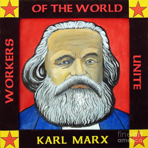 Helm Painting - Karl Marx by Paul Helm