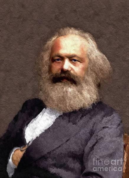 Communist Painting - Karl Marx, Political Theorist And Philosopher by John Springfield