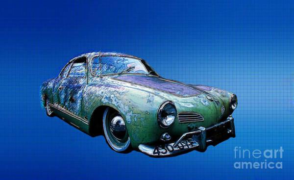 Patina Digital Art - Karmann Ghia by Chris Evans