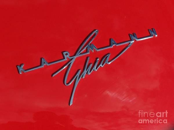 Photograph - Karmann Ghia - Red by Tony Baca