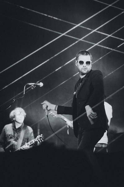 Frontman Wall Art - Photograph - Kasabian Playing Live by Marco Oliveira