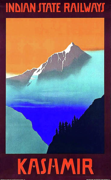 Wall Art - Painting - Kashmir, Mountains, Indian State Railways by Long Shot