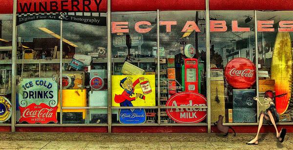 Digital Art - Kat At Window by Bob Winberry