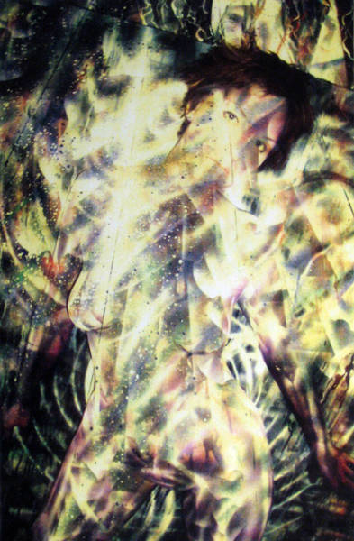 Kat Glows Art Print