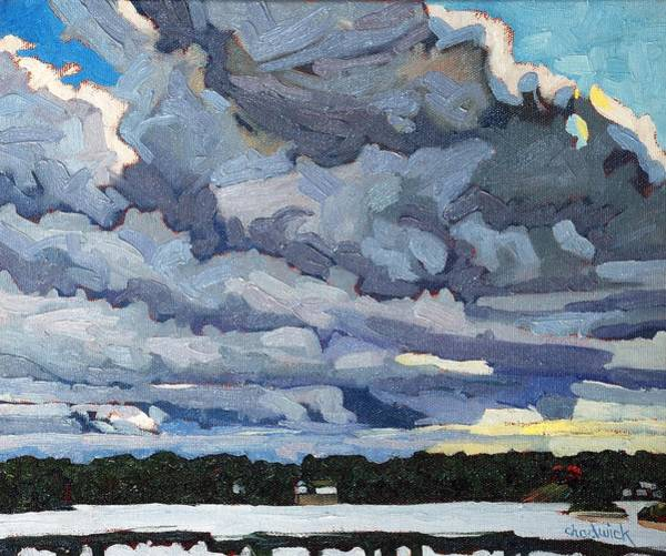 Wall Art - Painting - Katabatic Cold Front by Phil Chadwick