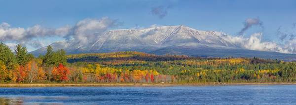 Katahdin In Fall Art Print