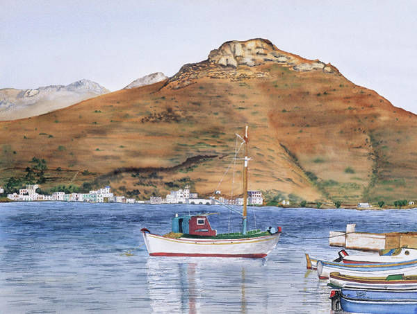 Amorgos Painting - Katapola by Tom Dorsz