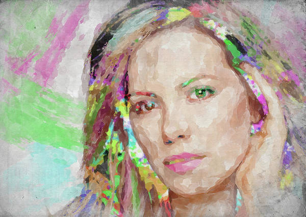 Wall Art - Photograph - Kate Beckinsale Watercolor by Ricky Barnard