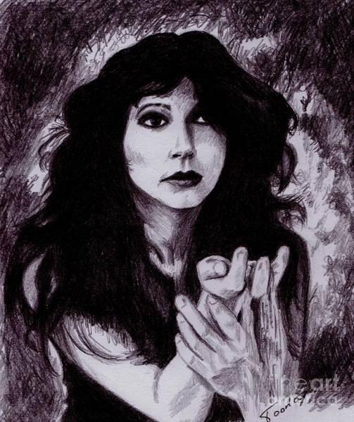 Drawing - Kate Bush by Toon De Zwart