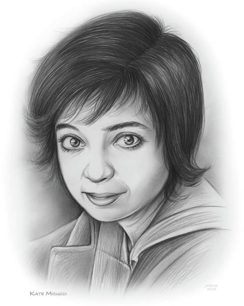 Actress Drawing - Kate Micucci by Greg Joens
