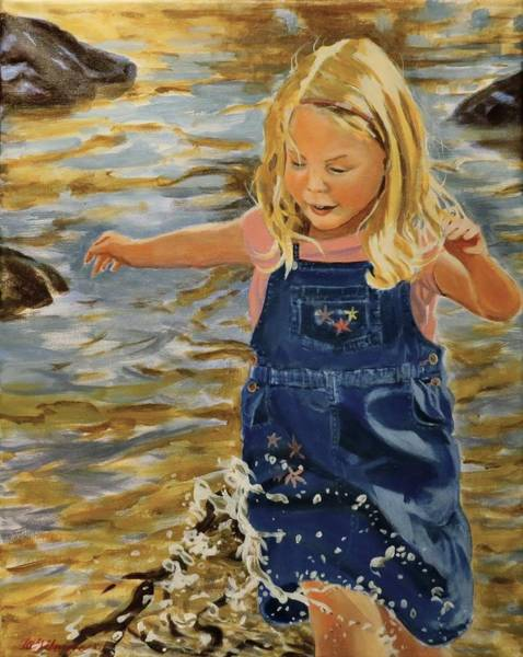 Painting - Kate Splashing by David Gilmore