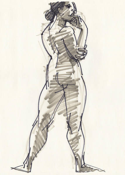 Drawing - Kath by Judith Kunzle