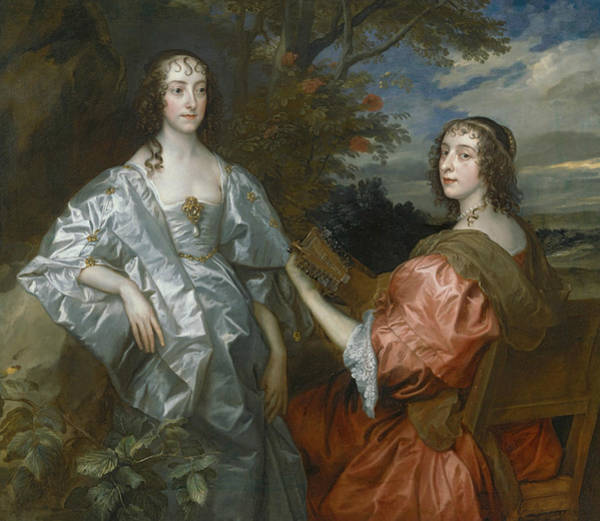 Painting - Katherine, Countess Of Chesterfield, And Lucy, Countess Of Huntingdon by Anthony van Dyck