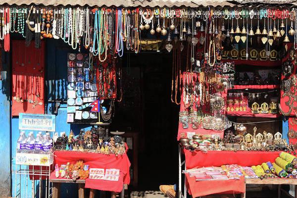 Photograph - Kathmandu Jewellery Store by Aidan Moran