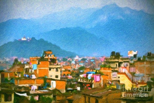 Painting - Kathmandu, Nepal by Chris Armytage