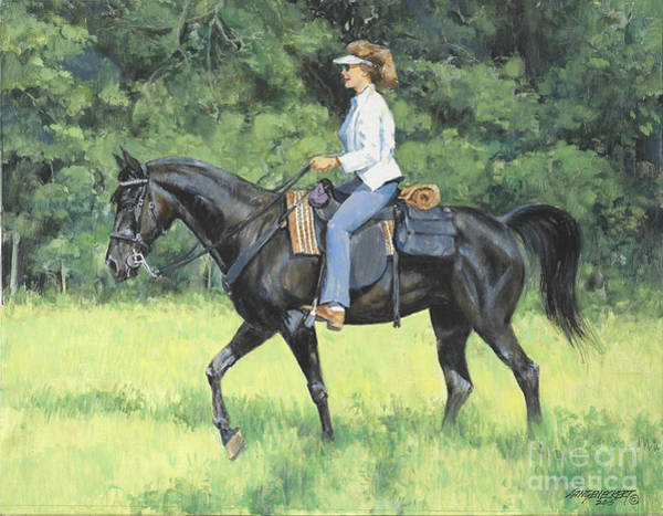 Wall Art - Painting - Kathy On Go Boy by Don Langeneckert