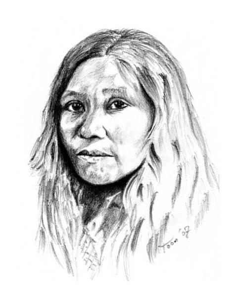 Drawing - Kato Woman by Toon De Zwart