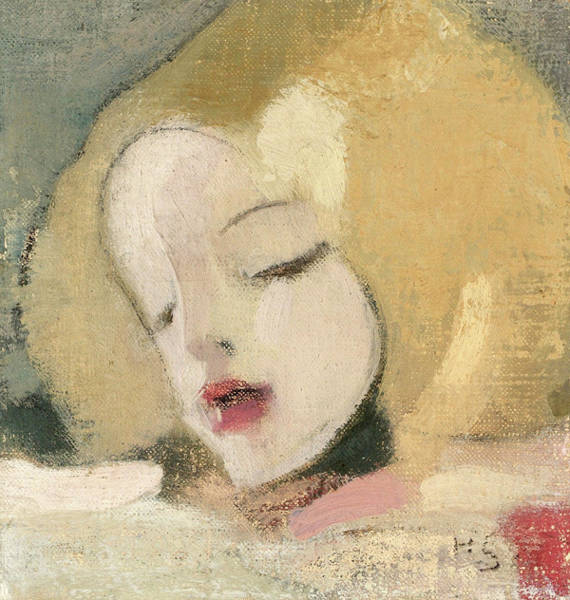 Wall Art - Painting - Katri by Helene Schjerfbeck