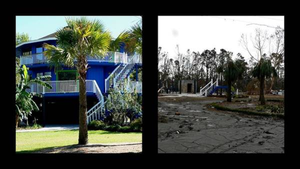 Photograph - Katrina Before And After by Kathy K McClellan