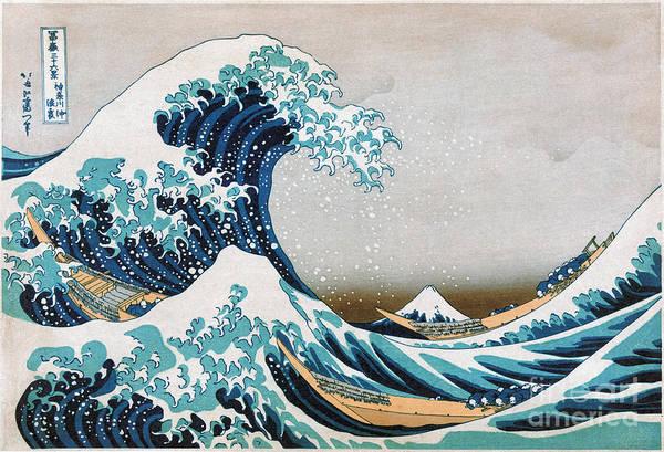 Wall Art - Photograph - Katsushika: Great Wave by Granger