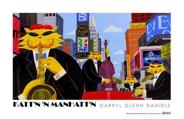 Kattn N Manhattn Art Print