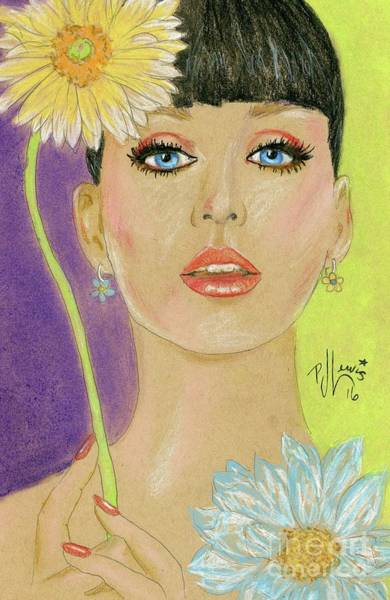 Wall Art - Drawing - Katy Perry by PJ Lewis