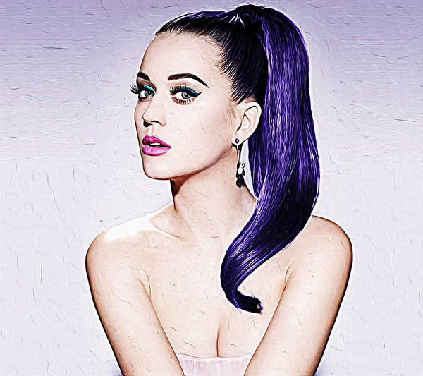 Wall Art - Painting - Katy Perry by Queso Espinosa