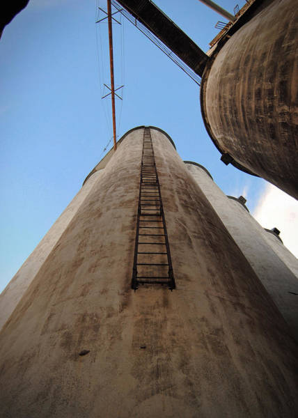 Photograph - Katy Silos Ladder by Nathan Little