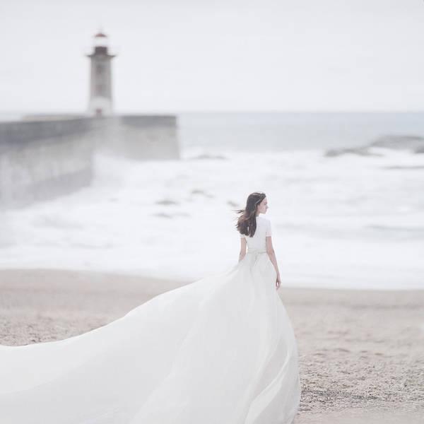 Dress Photograph - Katya And The Lighthouse by Anka Zhuravleva