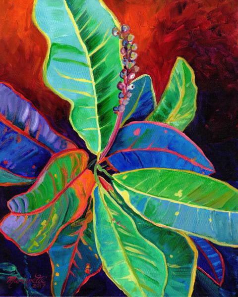 Painting - Kauai Croton Leaves 2 by Marionette Taboniar