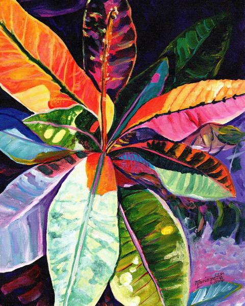Painting - Kauai Croton Leaves by Marionette Taboniar