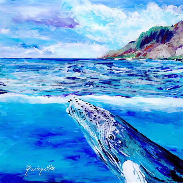 Painting - Kauai Humpback Whale by Marionette Taboniar