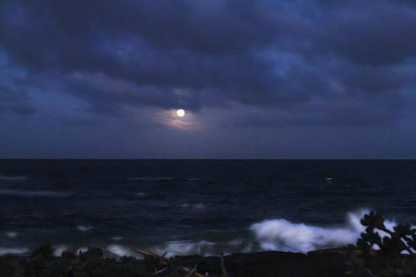Photograph - Kauai Moon At Poipu by Bonnie Follett