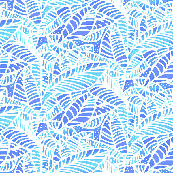 Digital Art - Kaua'i Ocean Leaves by Karen Dyson
