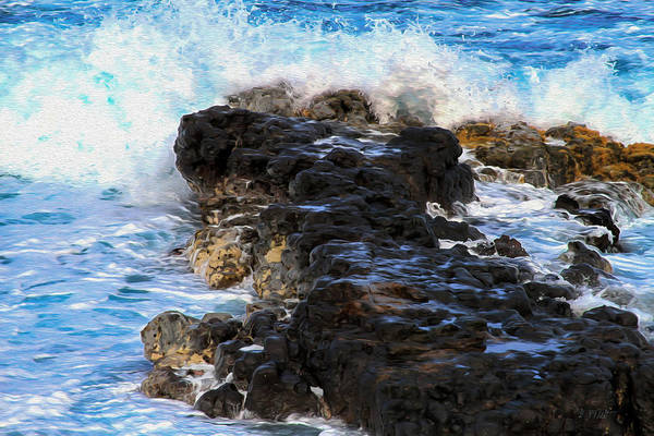 Photograph - Kauai Rock Splash by Bonnie Follett