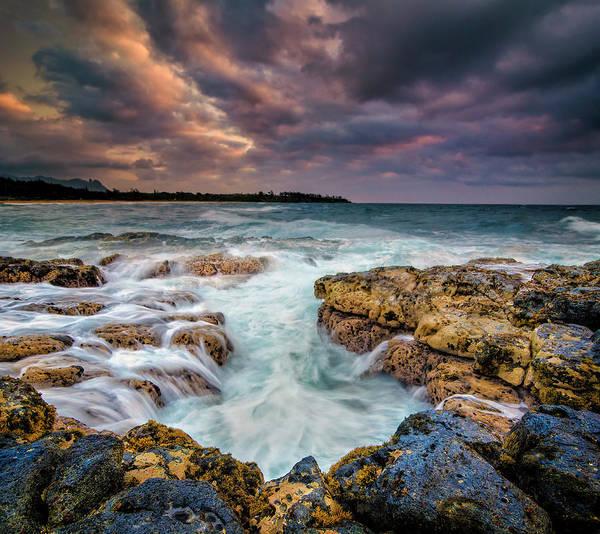 Kauai Ocean Rush Art Print