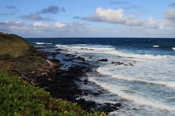 Photograph - Kauai Shore 1 by Bonnie Follett