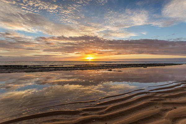 Photograph - Kauai Sunrise Reflection by Pierre Leclerc Photography