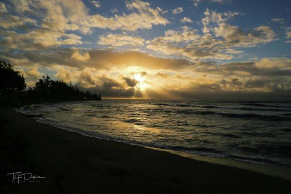 Photograph - Kauai Sunrise by T A Davies