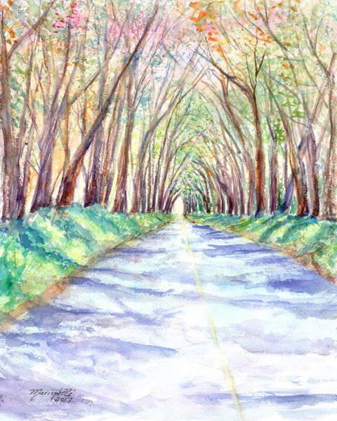 Painting - Kauai Tree Tunnel 3 by Marionette Taboniar